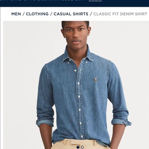 ecb363c012b Polo Ralph Lauren men s denim shirt. M 5adf97cd00450fb5e139189c